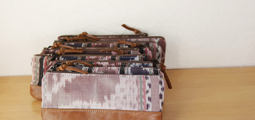 ikat and leather