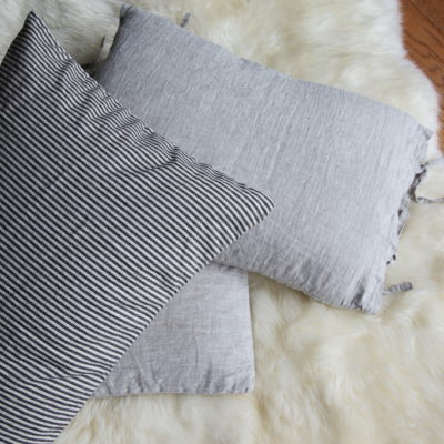 shown here with our European linen pillow covers