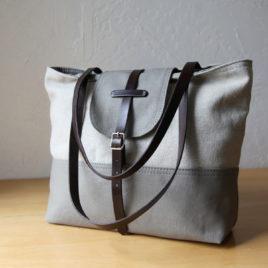 2-tone tote | hemp + gray