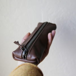 ~ Leather Pencil Case