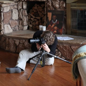 The photographer at work, shooting for our feature in Country Living Magazine