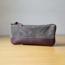 Waxed Zip Case | Stone