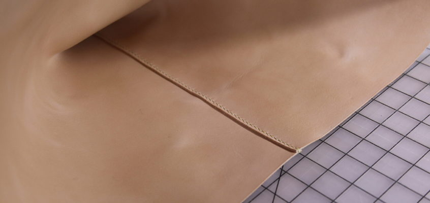 process | a custom leather project