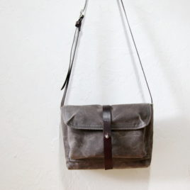 Small Satchel in Stone