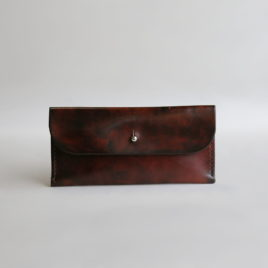 – SALE ITEM: Checkbook Wallet in Antique Brown