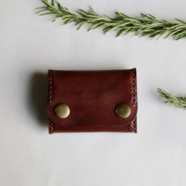 Coin Purse in Auburn Leather