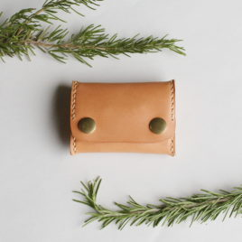 Coin Purse in Natural Leather