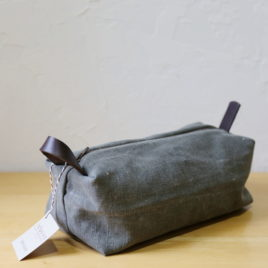 Mini Duffel in Military Canvas