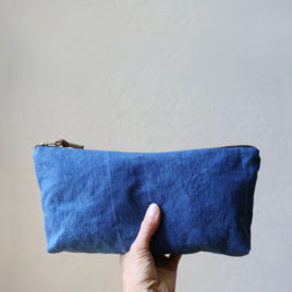 Midi Pouch in Natural Indigo