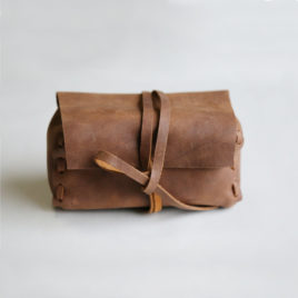 Laced Leather Pouch