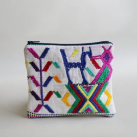 – SALE ITEM: Embroidered Textile Pouch | no. 2