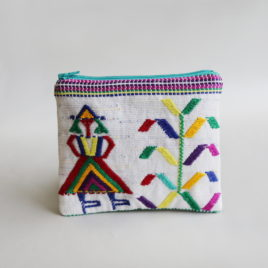 – SALE ITEM: Embroidered Textile Pouch | no. 3