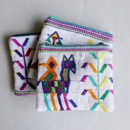– SALE ITEM: Embroidered Textile Pouch | no. 1