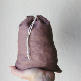 Quart Sack, Rose Linen