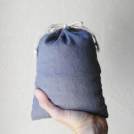 Quart Sack, Slate Linen