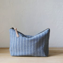 ~ Herringbone Denim Pouch